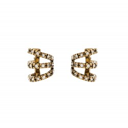 Brinco Hector Albertazzi Classics Piercing Strass Ouro Vintage