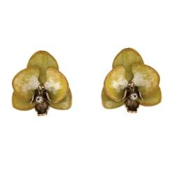 Brinco S&B Acessórios Orquídea Ouro Velho