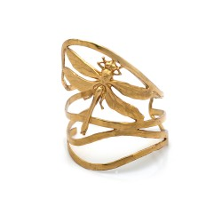 Bracelete S&B Acessórios Libélula Ouro Velho