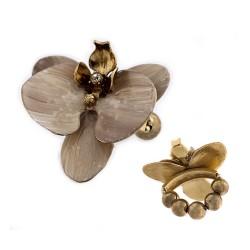 Porta Guardanapo S&B Acessórios Kit Orquidea Ouro Vintage