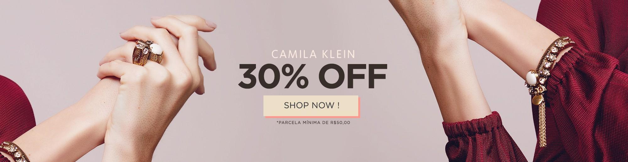CAMILA KLEIN COM 30% OFF