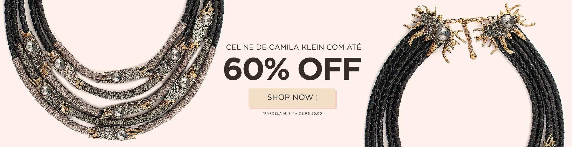 CAMILA KLEIN COM 60% OFF
