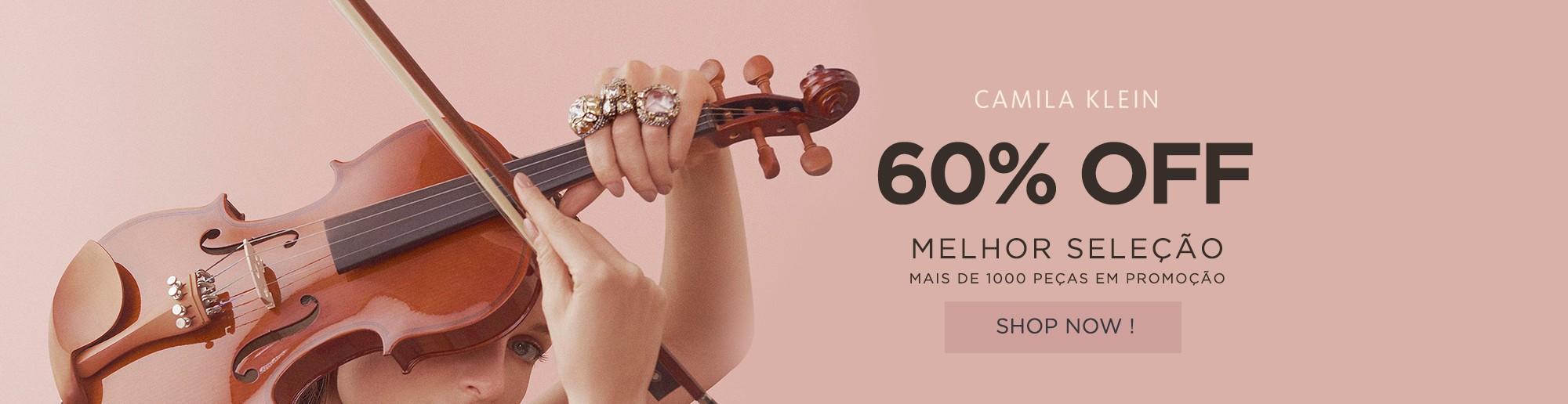 CAMILA KLEIN COM 60% OFF + FRETE GRÁTIS